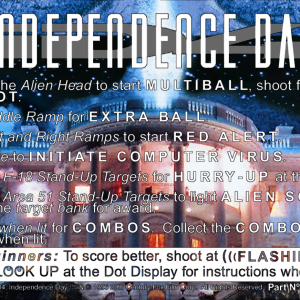 Independence Day instruction card