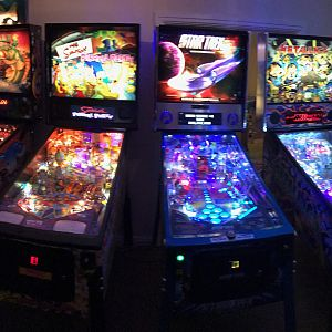 pinball in dark